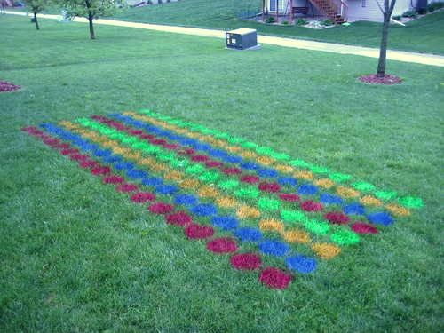 Be ready with yard games: horseshoes, bocce ball, or even yard Twister! (Tip: for an election/American themed party use red, white, and blue plus gold or silver spray paint!)