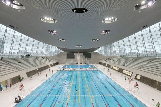 London Aquatics Centre after dismantling temporary structures