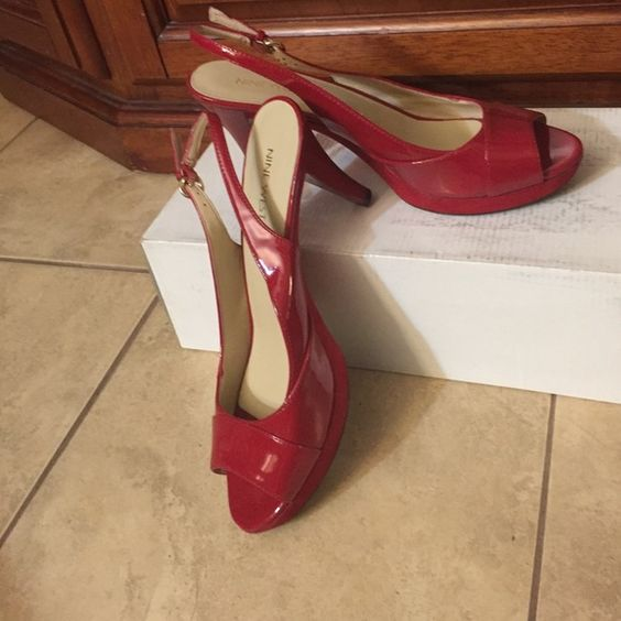 Nine West Peep toe pumps in red This is another Nine West add them to the rest and you have a pair for every day Nine West Shoes Platforms