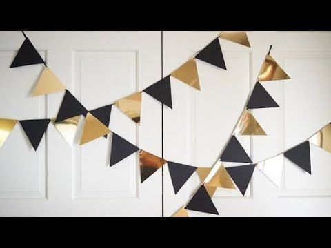 Diy Party Decoration Black And Gold Theme Party Banner