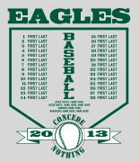 team roster t shirt baseball t shirt designs for your team cool - Baseball T Shirt Designs Ideas