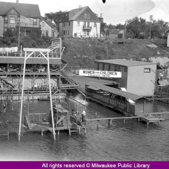 Milwaukee River Swimming School North Of The North Ave Dam Historic Milwaukee Photos