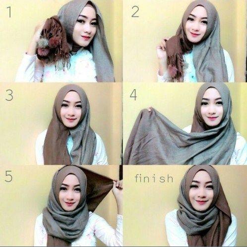Tutorial Hijab Pashmina Syari Hijab Tutorial Pashmina Hijab