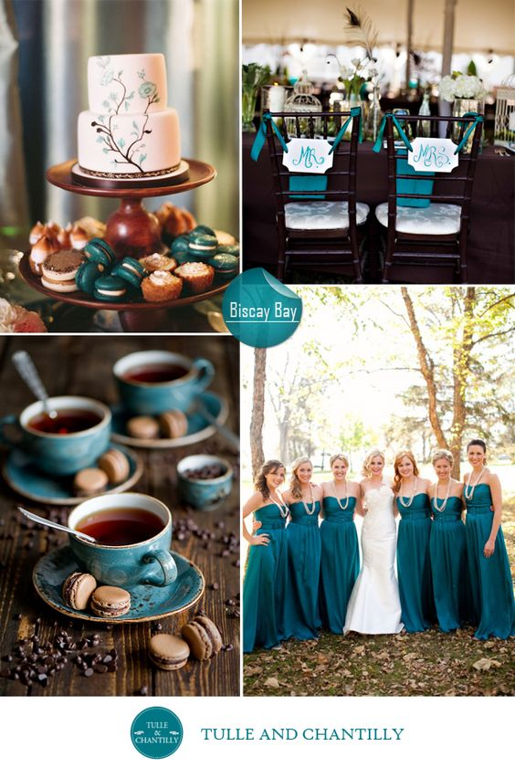 Top 10 pantone inspired fall wedding colors 2015 wedding - Country blue color scheme ...