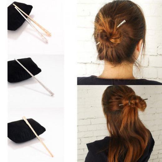 Black Wavy Hair Pin Chopsticks