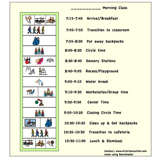 daily schedule template for kids with autism the image kid has it. Black Bedroom Furniture Sets. Home Design Ideas