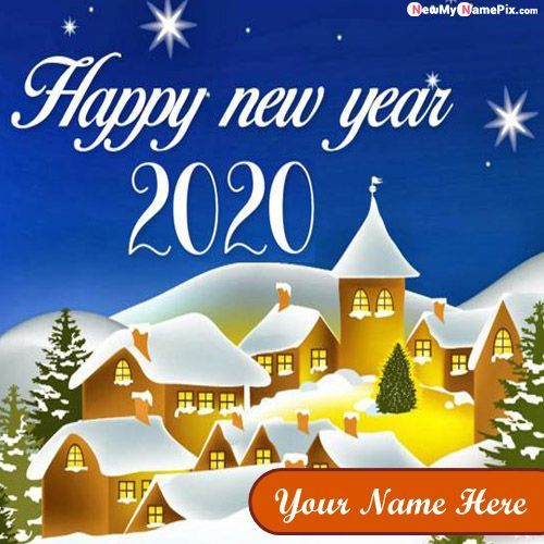 New Year Photo With Name Wishes Name Edit Happy New Year Wishes