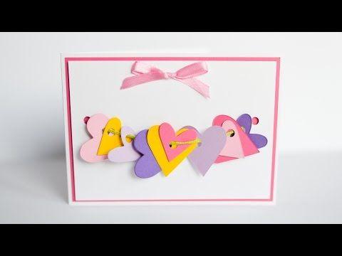 How To Make Greeting Card Valentine S Day Hearts Step By Step Diy Kartka Walentynkowa Y Valentines Cards Valentine Greeting Cards How To Make Greetings