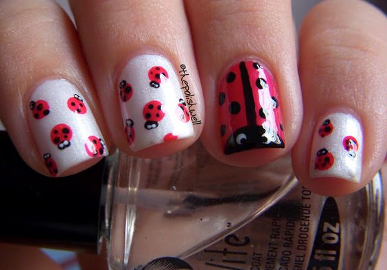 Ladybug Nails! @April McCreary