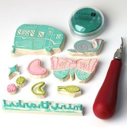 All you need are a few simple tools to start carving your own stamps.
