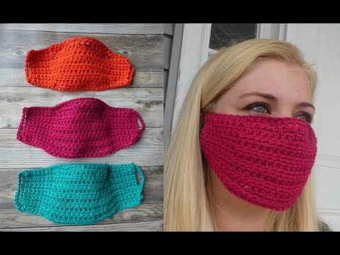 Make This Easy Diy Crochet Face Mask With A Filter Pocket Free