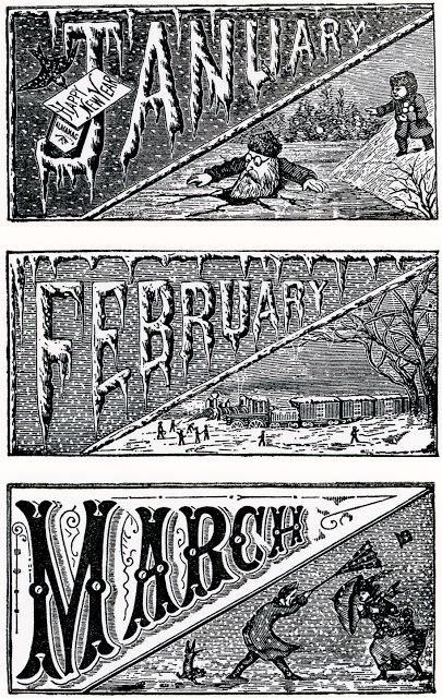 nineteenth century calendar vignettes: