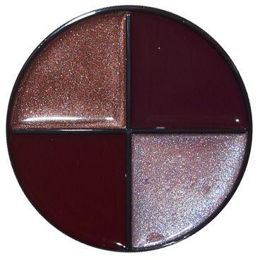 Bite Me Lip Gloss Quad - creme burgundy, creme wine, shimmer raisin, sheer shimmer lt amethyst