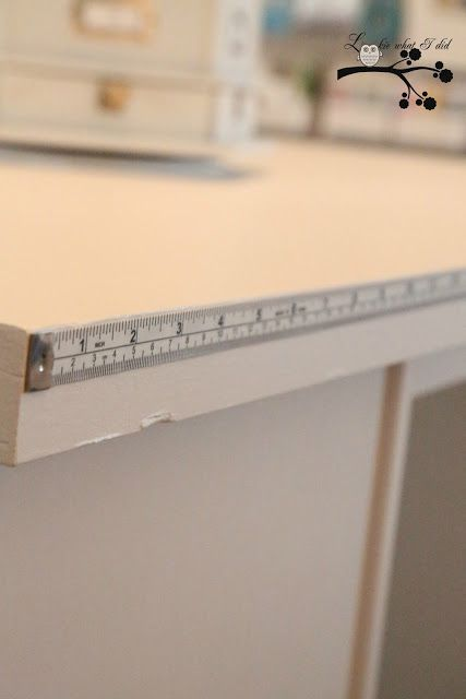 How Smart! Attach a measuring tape to the table.  Need to put one on my sewing table!