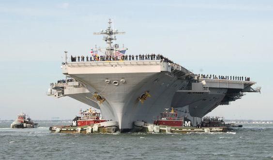 USS George H.W. Bush CVN-77 Naval Station Norfolk, VA December 20, 2011 4 x 6 Photo Card
