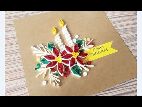 Quilling Of Christmas Ideas Christmas Card Easy Simple