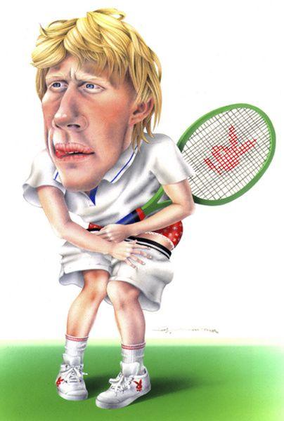 Resultado de imagen para caricaturas de Boris Becker