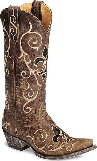 Fleur de lis boots!