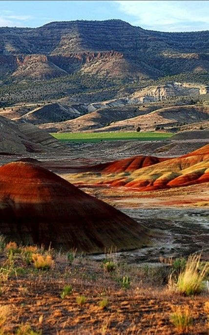 The Painted Hills in central Oregon ☛ http://en.wikipedia.org/wiki/Painted_Hills: