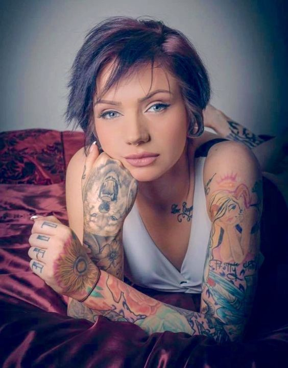 "inkedman66: "" ❤️Beautiful Tattooed Honey… Miss Tori Rose'🌹 ✨️Belles Femmes Tatouee's✨ """