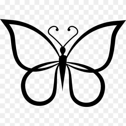 Butterfly Outline Png Butterfly Shape Outline Top View Free Animals Icons 512 512 Png Download Free Transpa Butterfly Outline Animal Icon Butterfly Shape