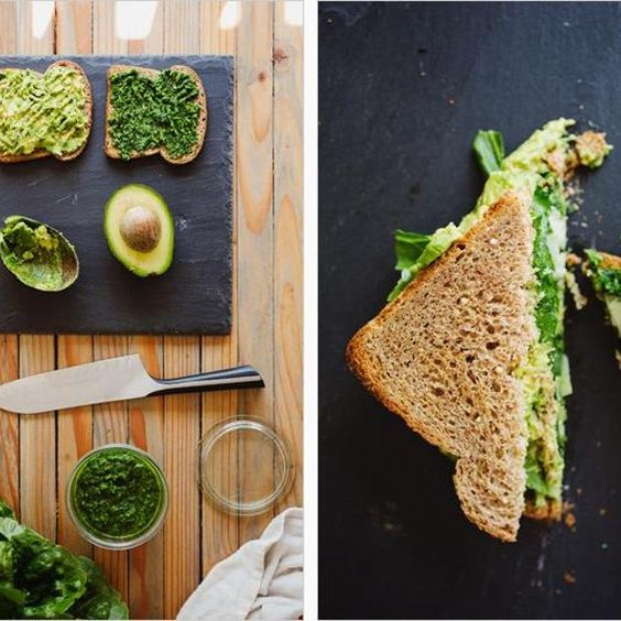 Avocado Sandwich With Green Harissa Recipe   main-dish, dairy free, gluten free, low carb, nut free, sugar free, vegan, vegetarian, fathers day, lunch, middle-eastern with 12 ingredients