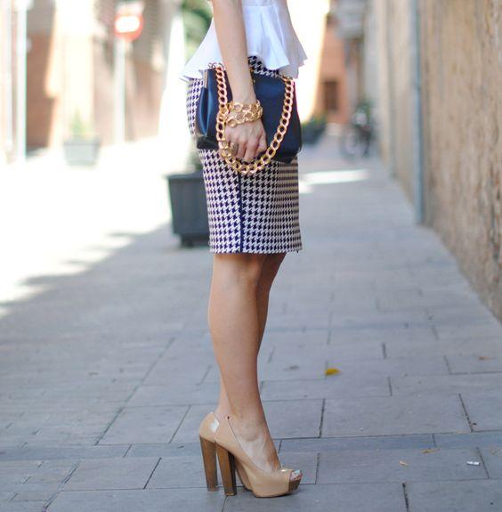 peblum top....pencil skirt