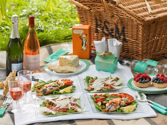 A Fortnum and Mason picnic basket: