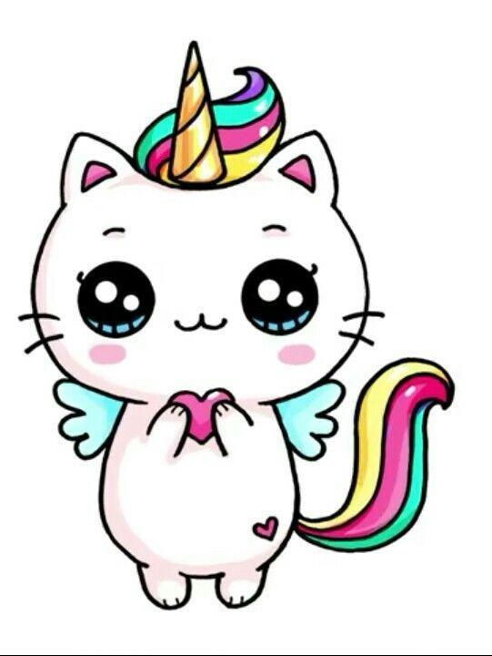 Gato Unicornio En 2020 Dibujos Kawaii Dibujos Kawaii 365