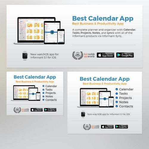 Banner Add For Pocketinformant Com We Sell Calendar Task App For