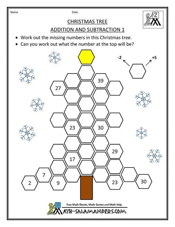 Math Worksheets Christmas Tree Math Worksheets Free Math – Christmas Math Games Worksheets