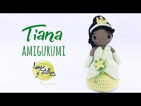 Tutorial Tiana Amigurumi Serie Princesas Y Súper Héroes Lanas Y Ovillos Youtube Mini Bonecas Ursos Crochê