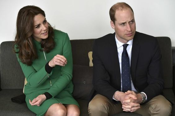 The Duchess of Cambridge and Prince William speak with former patient Jonny Benjamin.