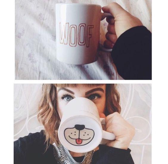 Woof. Dog mug.: