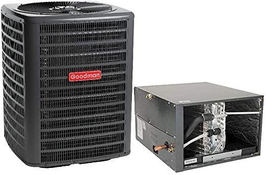 Goodman 2 5 Ton 14 5 Seer Air Conditioner Gsx160301 Coil Chpf3743c6 Horizontal Coil Chpf3743c6 In 2020 Air Conditioner Btu Air Conditioning System Heat Pump