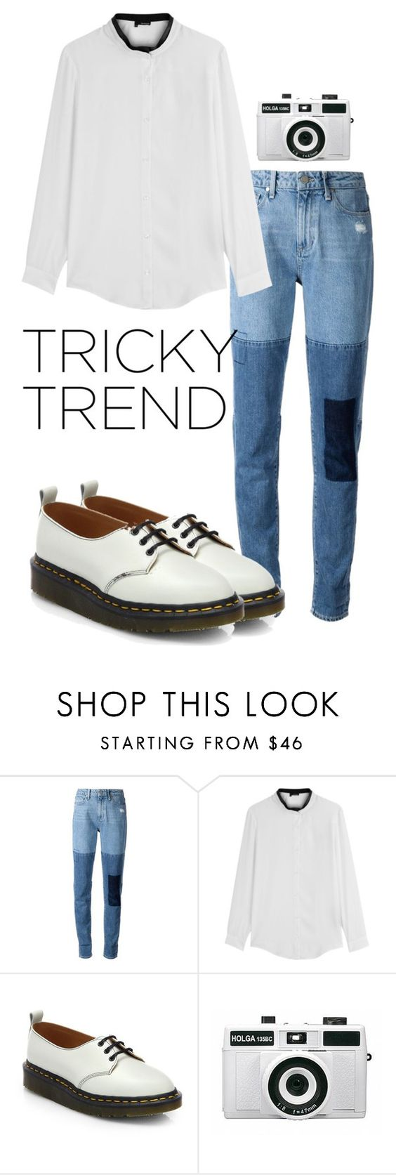 """""""Tricky Trend: Patchwork Denim"""" by ohlizzy ❤ liked on Polyvore featuring мода, Paige Denim, The Kooples, Comme des Garçons, Holga, TrickyTrend, contest, contestentry и patchworkdenim"""