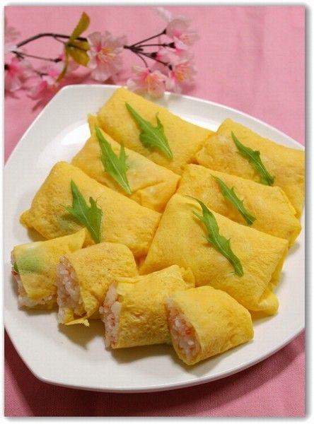 Sushi wrapped Usuyaki Eggs
