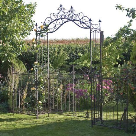 laura ashley 3a097161 decorative arched garden gate oyster patio lawn garden. Black Bedroom Furniture Sets. Home Design Ideas