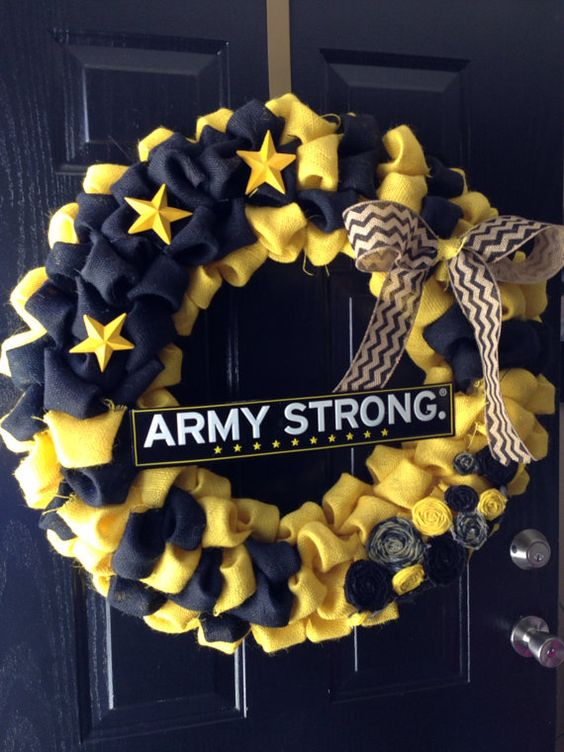 """Army Strong 30""""Burlap Wreath on Etsy, $65.00  Uncle World War II"""