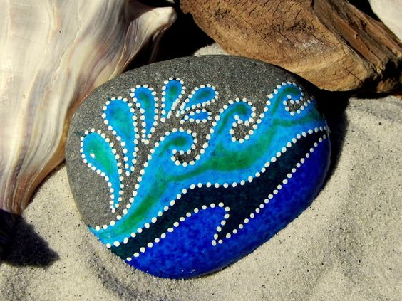 Splash / Painted Rock / Sandi Pike Foundas