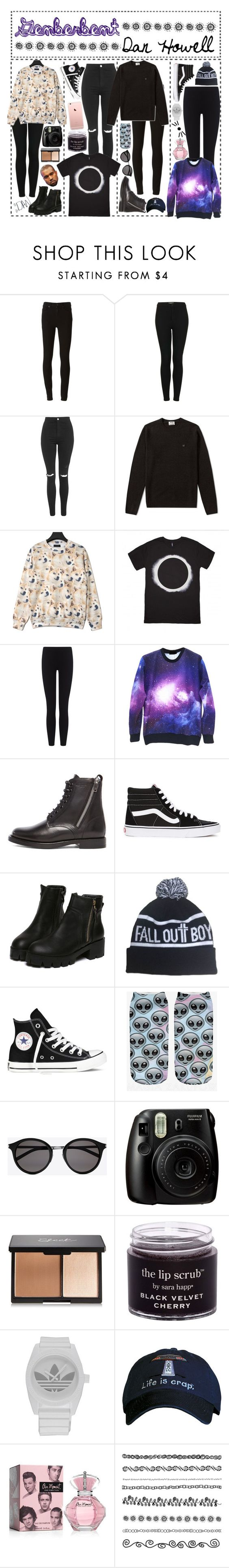 """""""genderbent - DAN HOWELL"""" by angietbh ❤ liked on Polyvore featuring Paige Denim, Topshop, Acne Studios, James Perse, Yves Saint Laurent, Vans, Converse, adidas, women's clothing and women"""