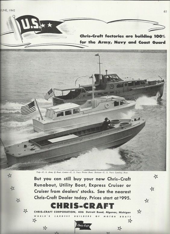 Image result for Chris Craft Landing vessels D'Day.