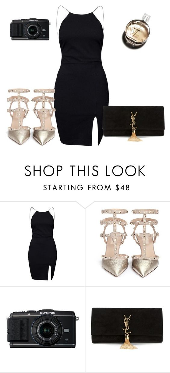 """Untitled #154"" by charlotte-down on Polyvore featuring NLY Trend, Valentino, Hermès, Yves Saint Laurent, women's clothing, women, female, woman, misses and juniors"