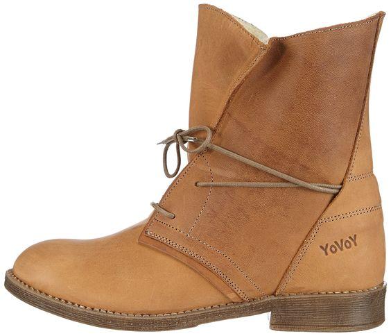 YoVoY Schnürschuhstiefel Damen Kurzschaft Stiefel: Amazon.de: Schuhe & Handtaschen