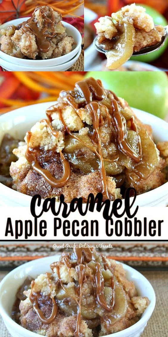 Caramel Apple Pecan Cobbler - Great Grub, Delicious Treats