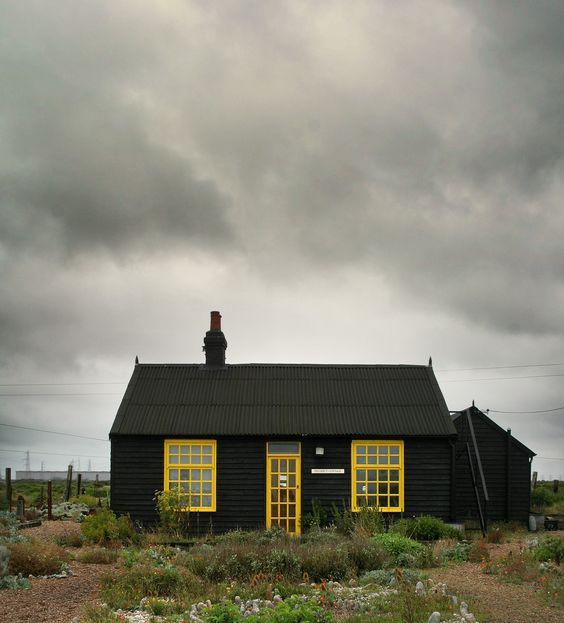 Derek Jarman's cottage in Dungeness, Kent, England
