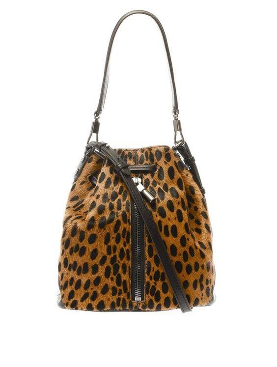 Elizabeth and James Cynnie mini calf-hair bucket bag on shopstyle.com