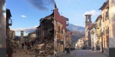 İtalya'yı yıkan depremde korkunç manzara: Norcia Umbria Accumoli Pescara del Tronto ve geçtiğimiz yıl İtal'yanın en güzel kentlerinden biri seçilen Amatrice artık tanınmayacak halde... Görgü tanıklarına göre İtalya'nın depremle yara alan bölgesi adeta bir bomba düşmüş gibi... Depremi yaşayanlardan biri her şeyin sadece 10 saniyede yerle ...