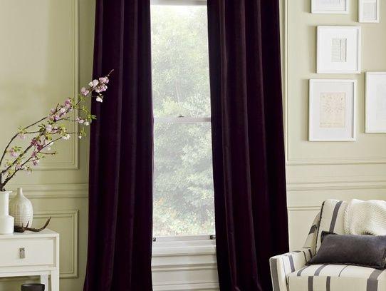 dark purple velvet curtains--West Elm~$100 each. These went on ...