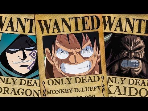 5 only dead bounty posters in one piece youtube luffy bounty one piece world poster